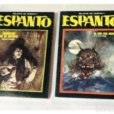 Libros de segunda mano: ESPANTO - 2 EJEMPLARES ( Nº 5-6 ) RELATOS DE TERROR / ED. DRONTE 1973. Lote 162429108