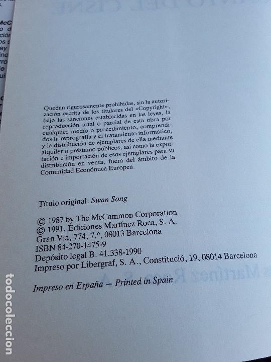 Libros de segunda mano: El canto del cisne. Sin leer, excelente estado. Gran Super Terror, Martinez Roca. Robert McCammon. - Foto 6 - 162470936