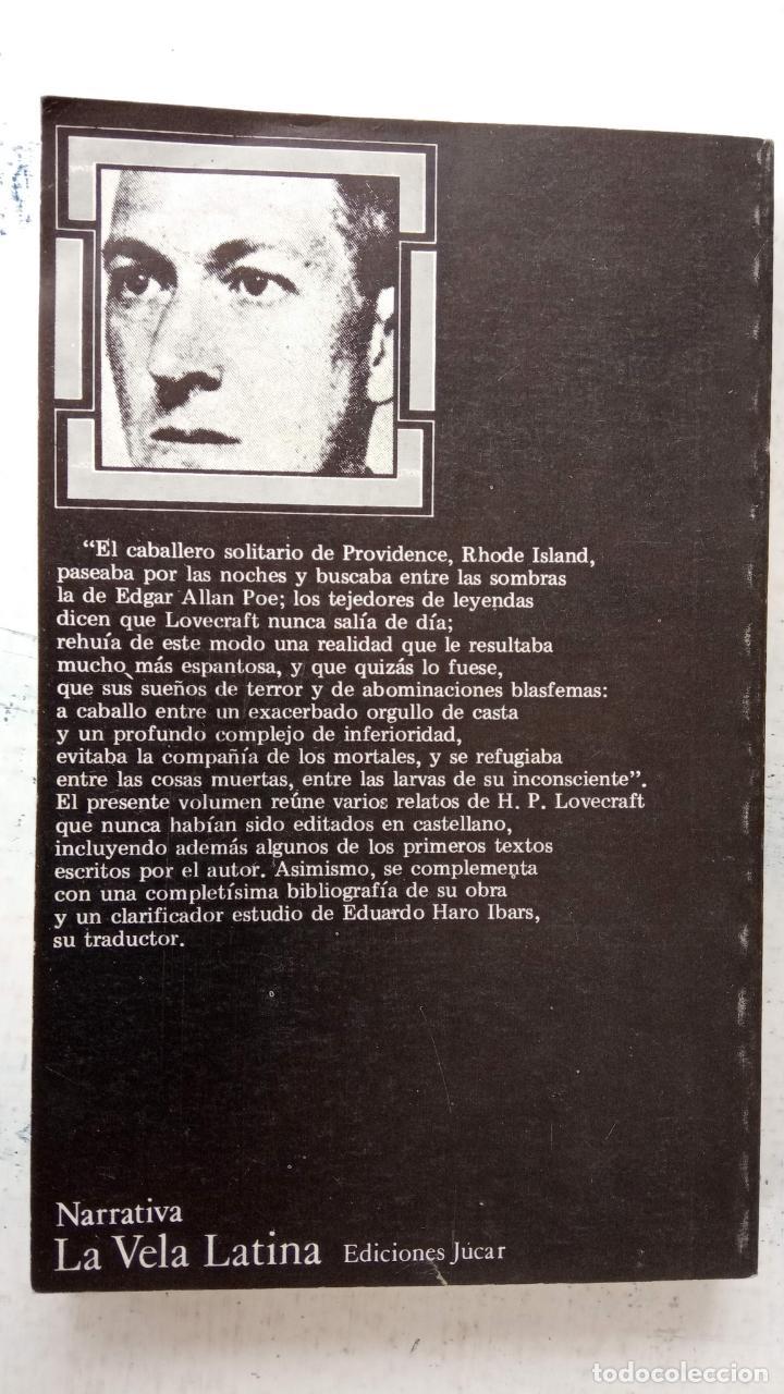 Libros de segunda mano: H.P. LOVECRAFT - EL SEPULCRO - EDICIONES JUCAR 1974 - 303 PGS - Foto 3 - 163786250