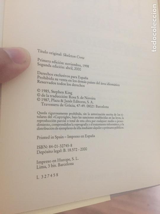 Libros de segunda mano: Historias fantásticas - Stephen King - Sobrecubierta blanca - Tapa dura - Plaza & Janés - Foto 6 - 164662785