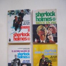 Libros de segunda mano: 4 LIBROS DE SHERLOCK HOLMES Nº 243, 244, 245 Y 246 - SELECCIONES DE BIBLIOTECA ORO - MOLINO 1967. Lote 169225536