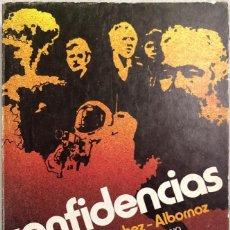 Libros de segunda mano: CONFIDENCIAS. CLAUDIO SANCHEZ-ALBORNOZ. SELECCIONES AUSTRAL. ESPASA-CALPE. MADRID, 1979. Lote 169561852