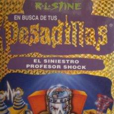 Libros de segunda mano: EL SINIESTRO PROFESOR SHOCK EN BUSCA DE TUS PESADILLAS 14 RL STINE 1 EDICION 1999. Lote 170422268
