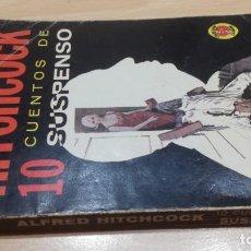 Libros de segunda mano: ALFRED HITCHCOCK 10 CUENTOS DE SUSPENSO - EDITORIAL DIANA. Lote 171698554