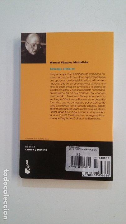 Libros de segunda mano: Sabotaje olímpico. - Manuel Vazquez Montalban. TDK399 - Foto 2 - 174055202