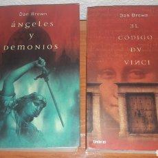 Libros de segunda mano: LOTE DAN BROWN ANGELES DEMONIOS CODIGO DA VINCI. Lote 176005475