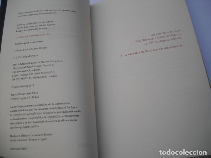 Libros de segunda mano: LA CABEZA DE PANCHO VILLA / GRAIG MCDONALD - OCEANO LA PUERTA NEGRA 2013 PRIMERA EDICIÓN - Foto 2 - 176275107