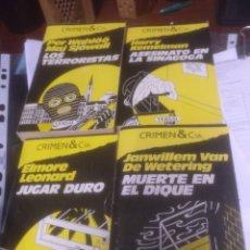 Libros de segunda mano: LOTE DE 4 NÚMEROS COLECCIÓN CRIMEN & CÍA EDICIONES VERSAL. Lote 176935065