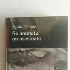 Libros de segunda mano: SE ANUNCIA UN ASESINATO AGATHA CHRISTIE NUEVO PRECINTADO. Lote 178632293