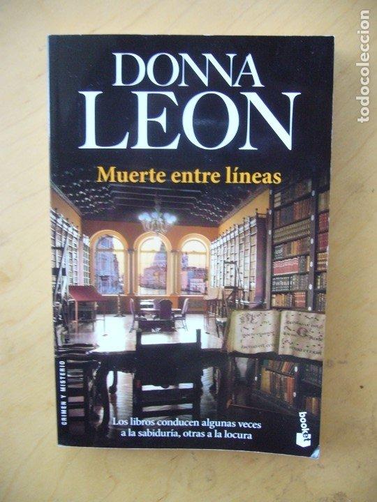 MUERTE ENTRE LINEAS - DONNA LEON (Libros de segunda mano (posteriores a 1936) - Literatura - Narrativa - Terror, Misterio y Policíaco)