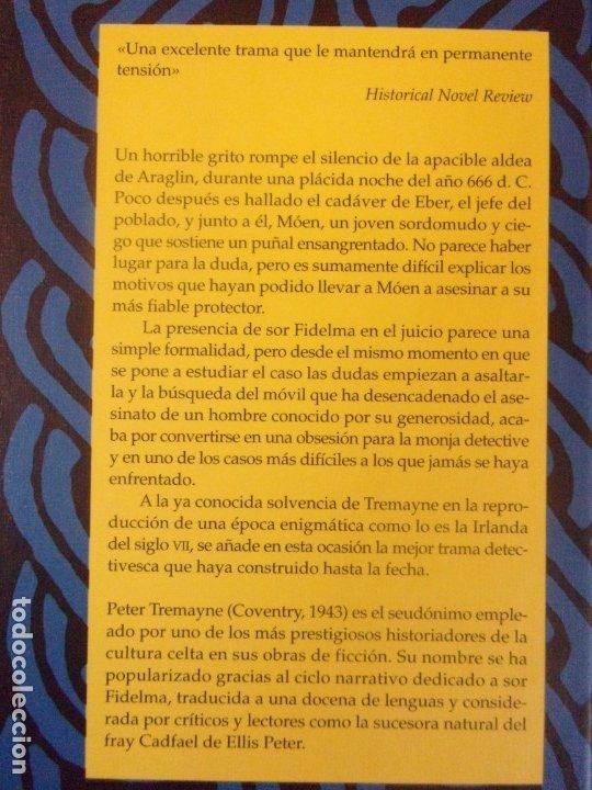 Libros de segunda mano: A TELARAÑA / PETER TREMAYNE / 1ª EDICIÓN 2004. EDHASA - Foto 3 - 179953550