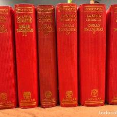 Libros de segunda mano: AGATHA CHRISTIE OBRAS ESCOGIDAS, 6 PRIMEROS TOMOS. AGUILAR DE EDICIONES COLECCIÓN EL LINCE ASTUTO. Lote 182316018