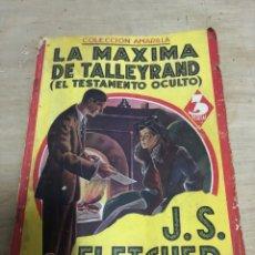 Libros de segunda mano: LA MÁXIMA DE TALLEYRAND. Lote 182386295
