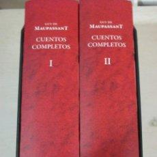 Libros de segunda mano: GUY DE MAUPASSANT, CUENTOS COMPLETOS, PAGINAS DE ESPUMA, 2 VOLUMENES. Lote 182905083