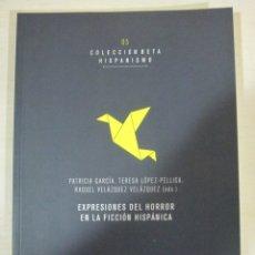 Libros de segunda mano: VV.AA., EXPRESIONES DEL HORROR EN LA LITERATURA HISPANICA, ALUVION EDITORIAL, NUEVO. Lote 182906085