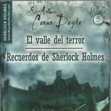 Libros de segunda mano: EL VALLE DEL TERROR Y RECUERDOS DE SHERLOCK HOLMES, ARTHUR CONAN DOYLE. Lote 183097030