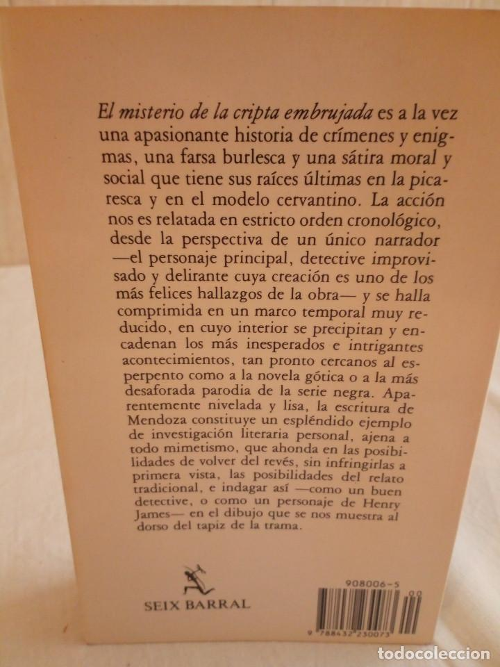 Libros de segunda mano: 297-EL MISTERIO DE LA CRIPTA EMBRUJADA, Eduardo Mendoza, 1990 - Foto 2 - 183957398