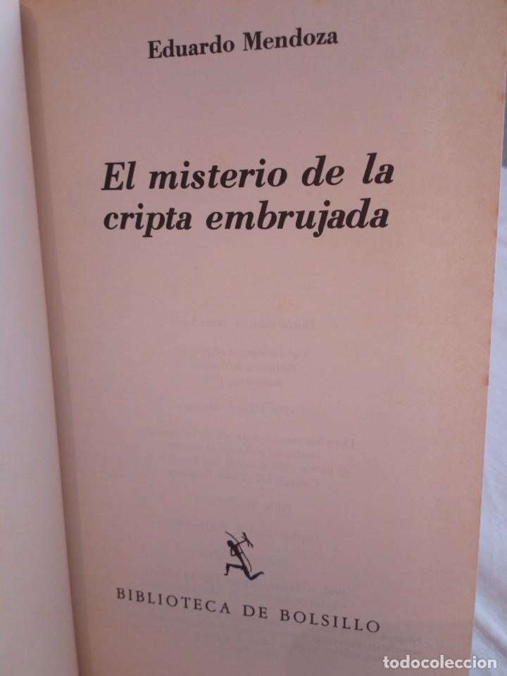 Libros de segunda mano: 297-EL MISTERIO DE LA CRIPTA EMBRUJADA, Eduardo Mendoza, 1990 - Foto 4 - 183957398