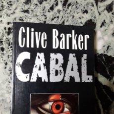 Libros de segunda mano: CABAL. CLIVE BARKER. P&J, 1989. 1.ª ED? ILUSTRADO. Lote 187524128