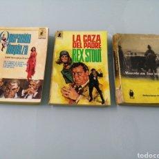 Libros de segunda mano: OPERACION LIMPIEZA. DAVID GRAHAM. LA CAZA DEL PADRE. REX STOUT. MUERTE EN LAS NUBES. AGATHA CHRISTIE. Lote 187588862