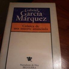 Libros de segunda mano: CRÓNICA DE UNA MUERTE ANUNCIADA- GABRIEL GARCÍA MÁRQUEZ. Lote 189421512