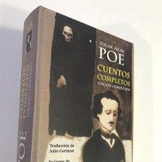 Libros de segunda mano: EDGAR ALLAN POE.CUENTOS COMPLETOS. EDICIÓN COMENTADA. NUEVO. Lote 191976442