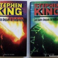 Libros de segunda mano: LOTE STEPHEN KING LAS DOS DESPUÉS DE MEDIANOCHE LAS CUATRO DESPUÉS DE MEDIANOCHE *GASTOS ENVÍO 9 EUR. Lote 192714950