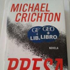 Libros de segunda mano: PRESA/MICHAEL CRICHTON. Lote 194357175
