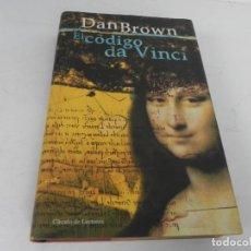 Libros de segunda mano: EL CÓDIGO DA VINCI (DAN BROWN) CIRCULO DE LECTORES-2003. Lote 194550177