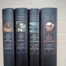 Libros de segunda mano: EL SIGLO DE LAS QUIMERAS - 4 TOMOS COMPLETA - PHILIPPE CAVALIER - 2009. Lote 194627791