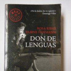 Libros de segunda mano: DON DE LENGUAS. RIBAS ROSA Y HOFMANN SABINE. 2014. Lote 194669037