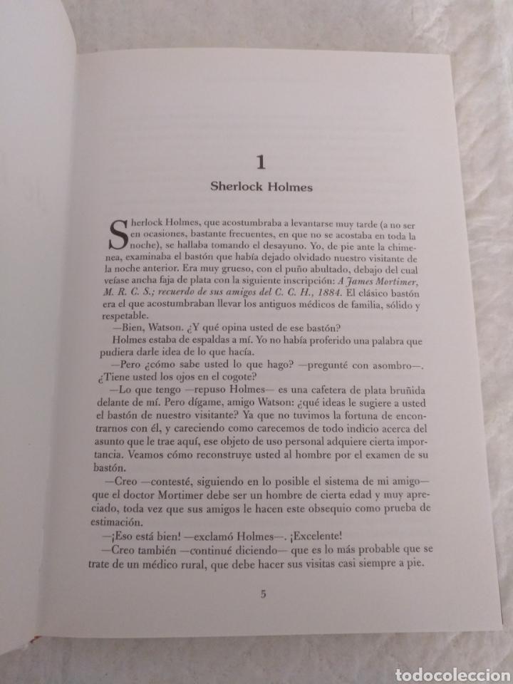 Libros de segunda mano: El perro de los Baskerville. Sir Arthur Conan Doyle. Novelas de suspense y terror. Libro - Foto 4 - 194889172