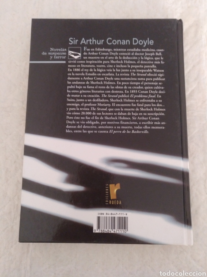 Libros de segunda mano: El perro de los Baskerville. Sir Arthur Conan Doyle. Novelas de suspense y terror. Libro - Foto 8 - 194889172