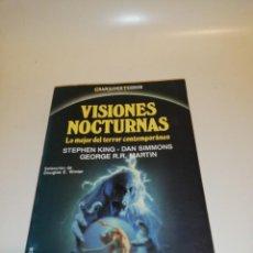 Libros de segunda mano: VISIONES NOCTURNAS, LO MEJOR DEL TERROR CONTEMPORÁNEO, KING, MARTIN ETC... . Lote 194906291