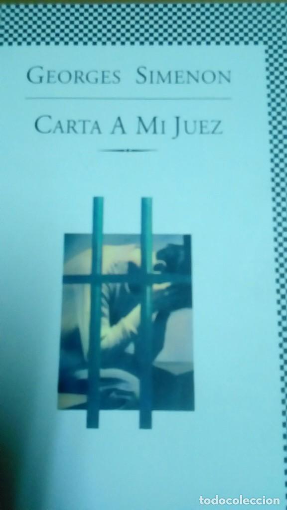 CARTA A MI JUEZ, GEORGES SIMENON (Libros de segunda mano (posteriores a 1936) - Literatura - Narrativa - Terror, Misterio y Policíaco)