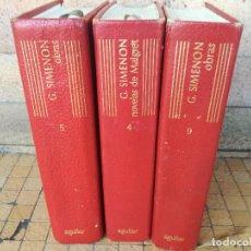 Libros de segunda mano: GEORGES SIMEON, OBRAS, AGUILAR TOMOS: IV - V - IX. Lote 195030521