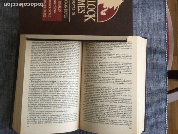 Libros de segunda mano: Sherlock Holmes. Obras completas: volúmenes 1, 2 y 3. Sir Arthur Conan Doyle. - Foto 4 - 195378110