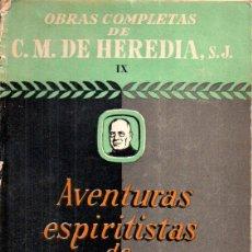 Livres d'occasion: HEREDIA : AVENTURAS ESPIRITISTAS DE SHERLOCK HOLMES (DIFUSIÓN, 1946). Lote 195429277