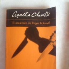 Libros de segunda mano: AGATHA CRISTIE EL ASESINATO DE ROGER ACKROYD,UNICO EN TODO COLECCION. Lote 198168138