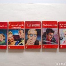 Libros de segunda mano: 5 GRANDES NOVELAS POLICIACAS DE LA COLECCIÓN BUHO Nº 14, 22, 91, 97, 99 - GERPLA - AÑOS 50. Lote 199762553
