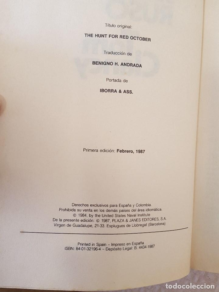 Libros de segunda mano: LIBRO / LA CAZA DEL SUBMARINO RUSO / TOM CLANCY / PRIMERA EDICION FEBRERO 1987, 384 PAGINAS - Foto 2 - 199794638
