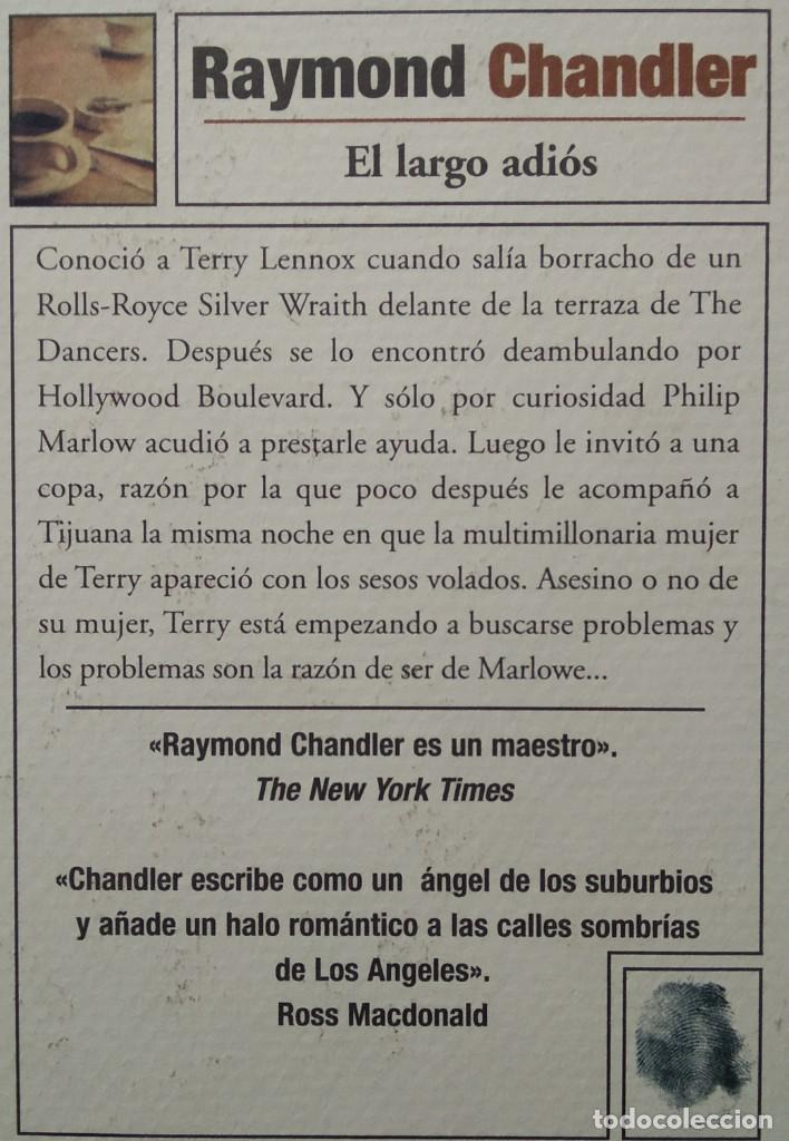 Libros de segunda mano: EL LARGO ADIOS -- RAYMOND CHANDLER ... Clásicos Gimlet - Foto 2 - 202080751