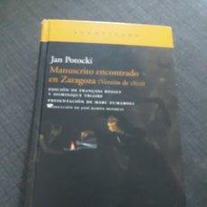 Libros de segunda mano: MANUSCRITO ENCONTRADO EN ZARAGOZA. JAN POTOCKI. 1° EDICIÓN 2009 ..ACANTILADO. Lote 202331151