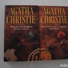Libros de segunda mano: AGATHA CHRISTIE MUERTE EN EL NILO - ASESINATO EN EL ORIENT EXPRESS. Lote 203792395