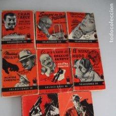 Libros de segunda mano: SELECCIONES BIBLIOTECA ORO NOVELAS POLICÍACAS 9 NÚMEROS. Lote 205609593