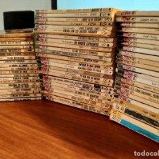 Libros de segunda mano: LOTE DE 70 NOVELAS BOLSILIBROS. PUNTO ROJO Y SERVICIO SECRETO. EDITORIAL BRUGUERA.. Lote 205745582
