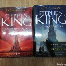 Libros de segunda mano: LA TORRE OSCURA V LOBOS DEL CALLA Y VII DE STEPHEN KING TAPA DURA. Lote 206235417