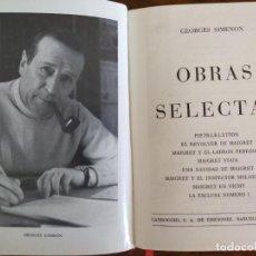 Libros de segunda mano: GEORGES SIMENON. OBRAS SELECTAS.. Lote 206464476