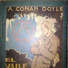 Libros de segunda mano: EL VALLE DEL TERROR A CONAN DOYLE REENCUADERNADO 1 EDICION MATEU ARTES GRAFICAS. Lote 206901348