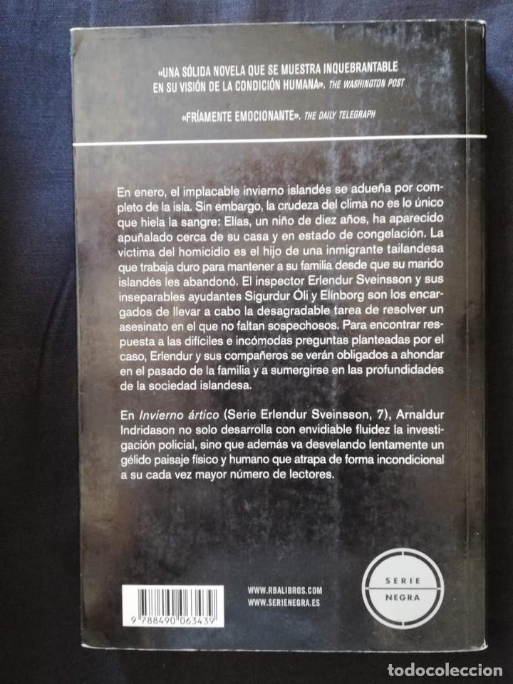 Libros de segunda mano: INVIERNO ÁRTICO - ARNALDUR INDRIDASON - Foto 2 - 206911983